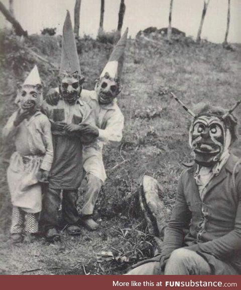 Halloween in the early 1900s
