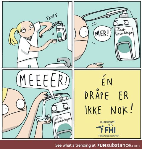 """The Norwegian Institute of Public Health's """"One Drop is Not Enough"""" poster is something"""