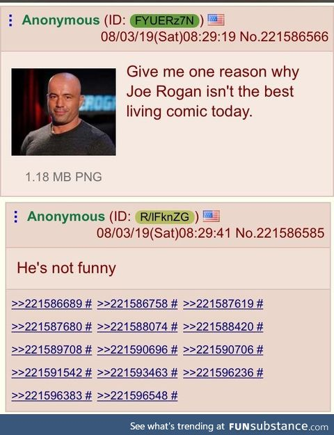 Anon asks about joe Rogan