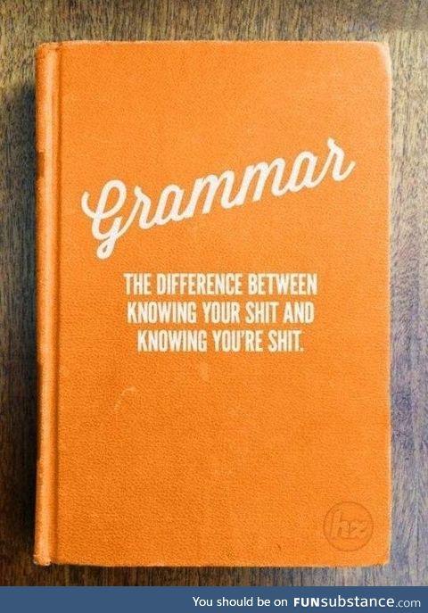 Grammar is