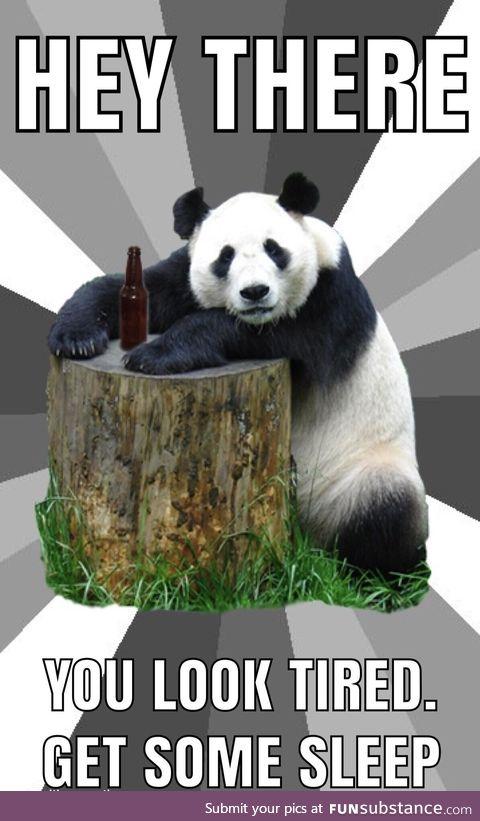 Panda speaks truth