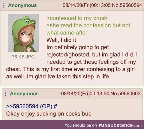 Anon gets comforted