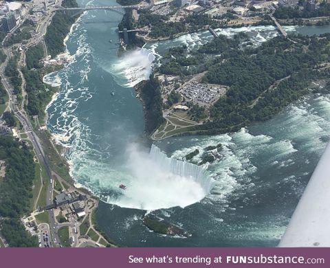 Niagara Falls from the 650 feet in the air