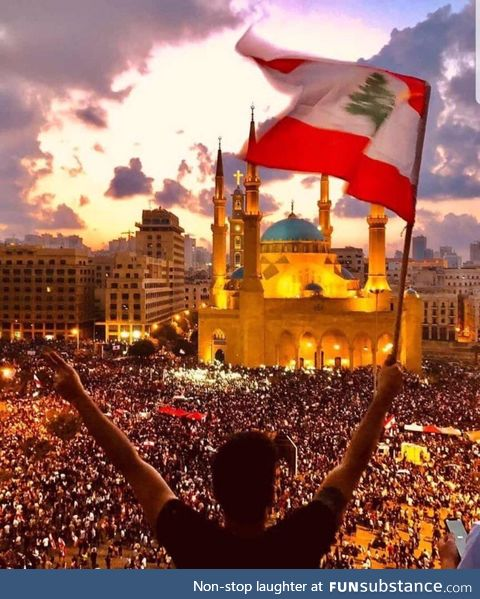 Day 6, over a million protesters gathered in major cities throughout Lebanon, still