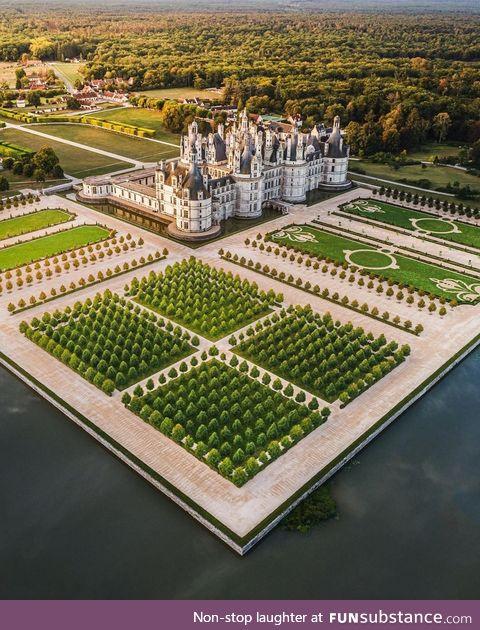 The Gardens at Chateu de Chambord, France