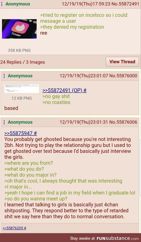 Anons are masters of Tinder