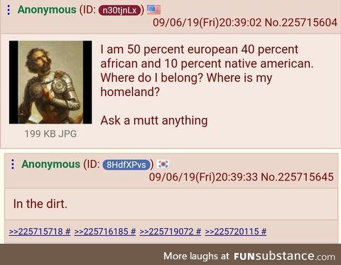 Anon is mulatto