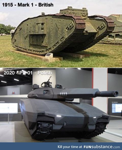 First tank compared to most recent tank