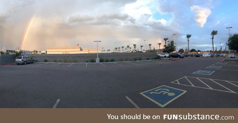End to End rainbow in Arizona