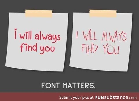 Font matters ????