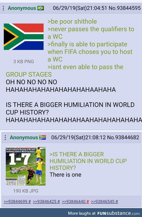 Brazilian anon asks for it and gets rekt