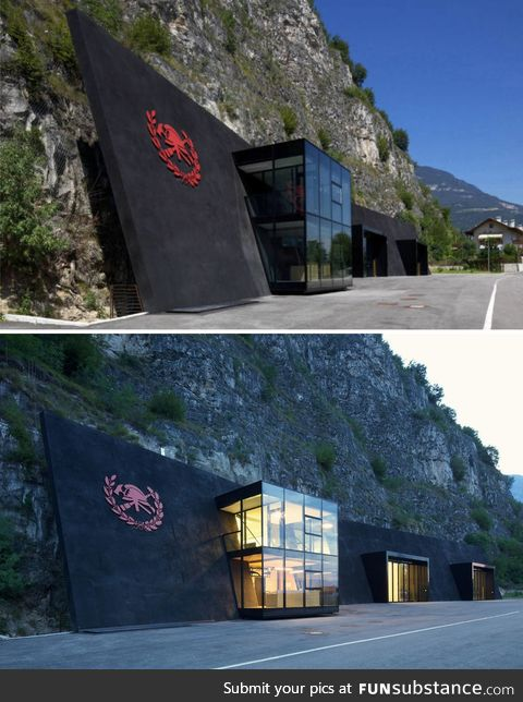 Fire station in Italy looks like a villain hideout