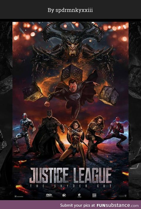 Cool poster mock up for  Zack Snyder's Justice League