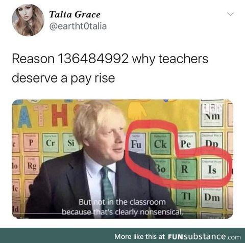 Raise the teachers well