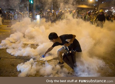 How to deal with tear gas like a boss