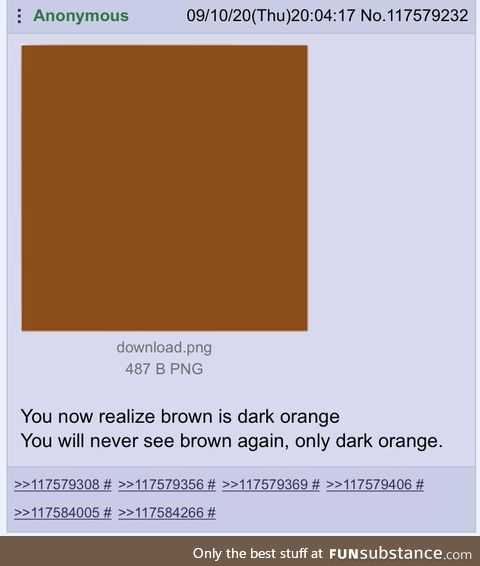 Anon reveals the truth about the color brown