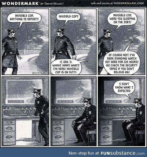 Invisible cop