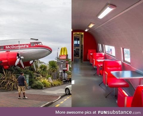 McDonald's' in New Zealand are in old airplanes
