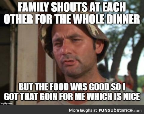 Happens on lots of family meetups unfortunately