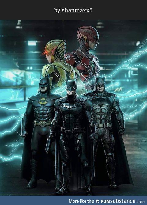 The Flash-Bat-Verse fan art