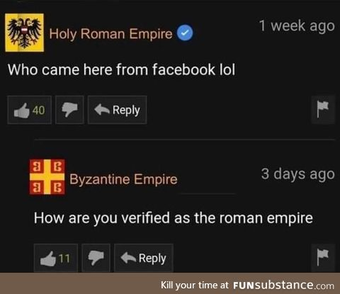 Holy Roman and actually an Empire