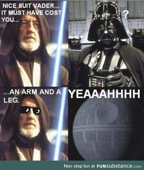 Small price to be vader
