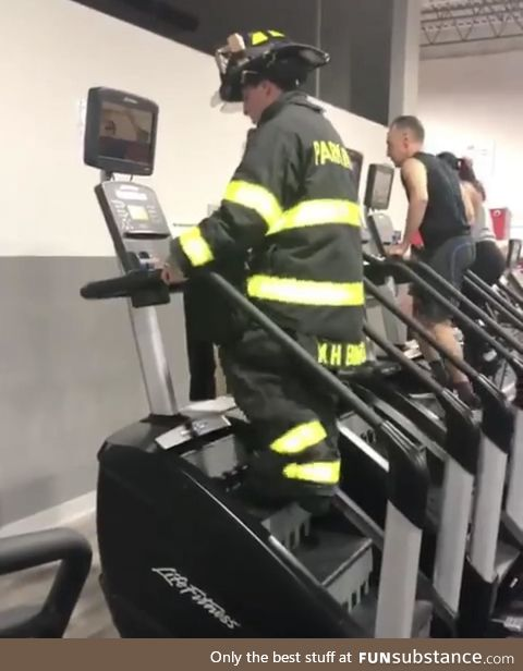 He climbed 110 flights of stairs in his gear on 9/11, to honor the firefighters who lost