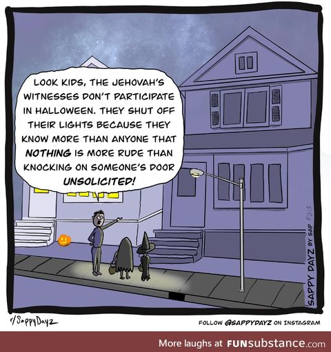 Jehovah's witnesses on Halloween