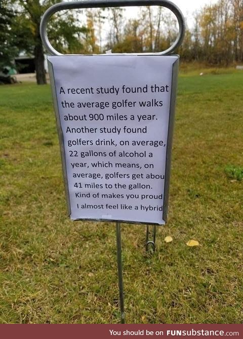 An interesting note found on a golf course