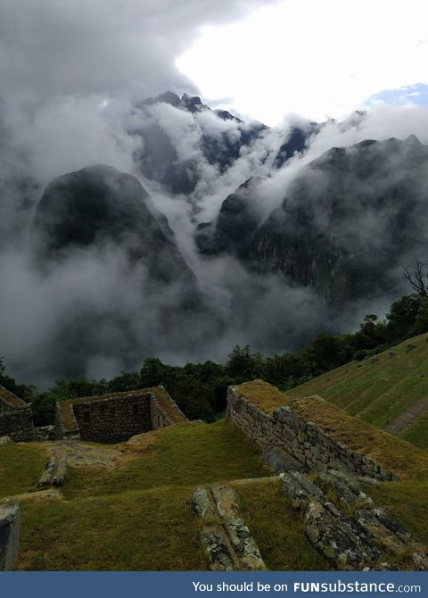Our trip to Machu Picchu offered some unique clouds