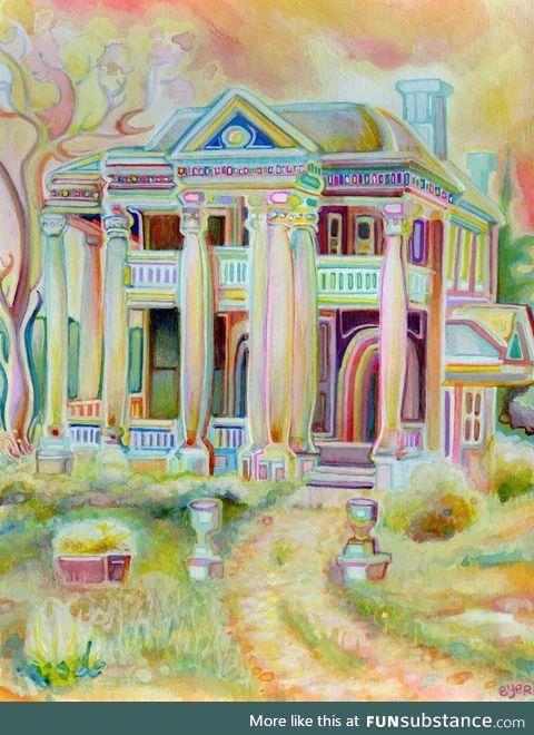 Artist made a trippy mansion
