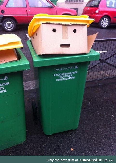 Donald trump garbage bin