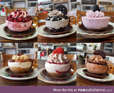 These cheesecakes are literal cupcakes. Teacupcakes