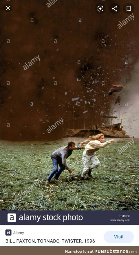 This stock photo makes it look like they're running away from a tornado of watermarks