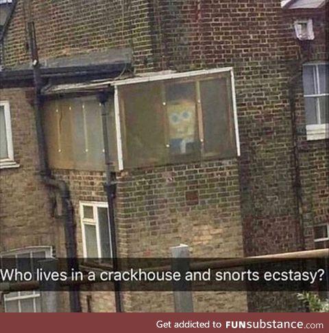 Crackhead squarepants!