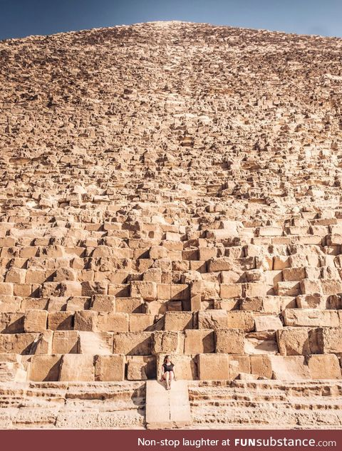 The scale of one of the Great Pyramids of Giza