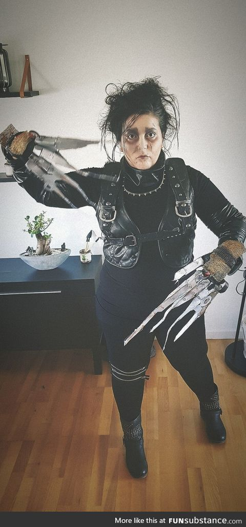 [self] Homemade Edward Scissorhands cosplay for a Danish carnival