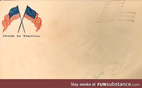 A Civil War envelope