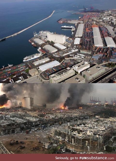 Beirut, before & after the blast