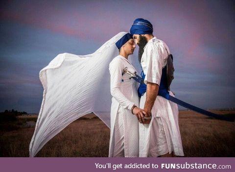 Traditional sikh wedding