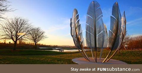 Sculpture in Ireland dedicated to the Native American Choctaw who donated $170 in 1847 to
