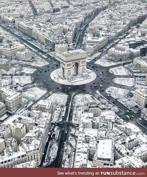 Paris in Winter White