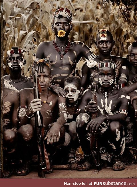 Youth of a remote Ethiopian Tribe