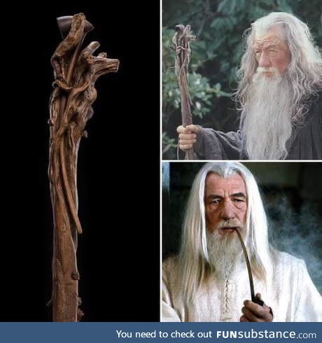 In The Lord of the Rings, Gandalf carried his pipe in his staff