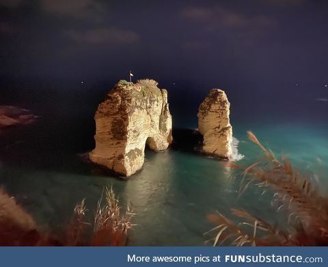 The two rocks of beirut beach, photo taken by myself