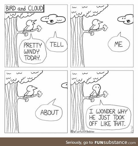 Bird and Cloud [OC]