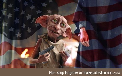 Master has given Dobby a glock, Dobby is FREE