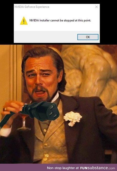 Runaway nvidia installer