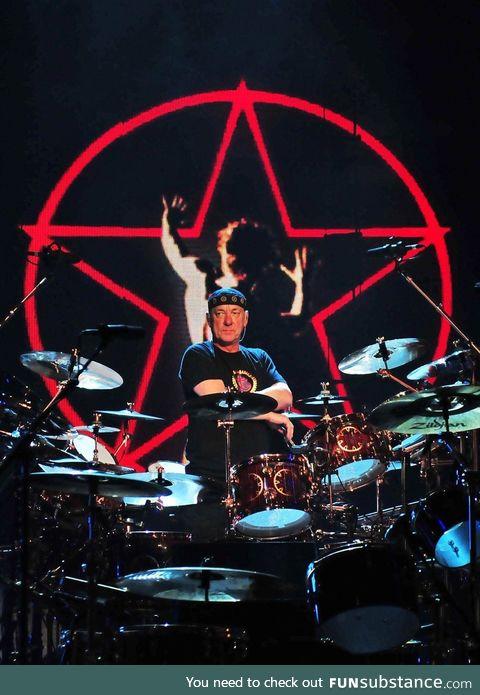 Neil Peart of RUSH!! Drum extraordinaire has left the building!! Thank you for creating