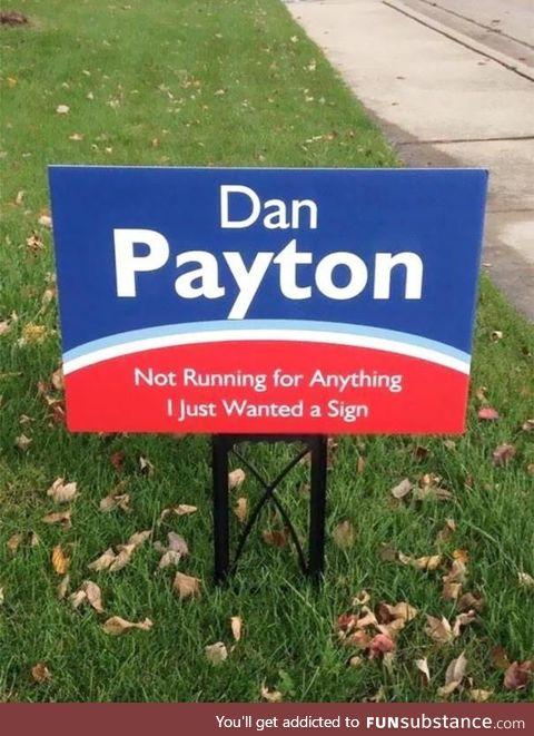 Way to go Dan, way to go